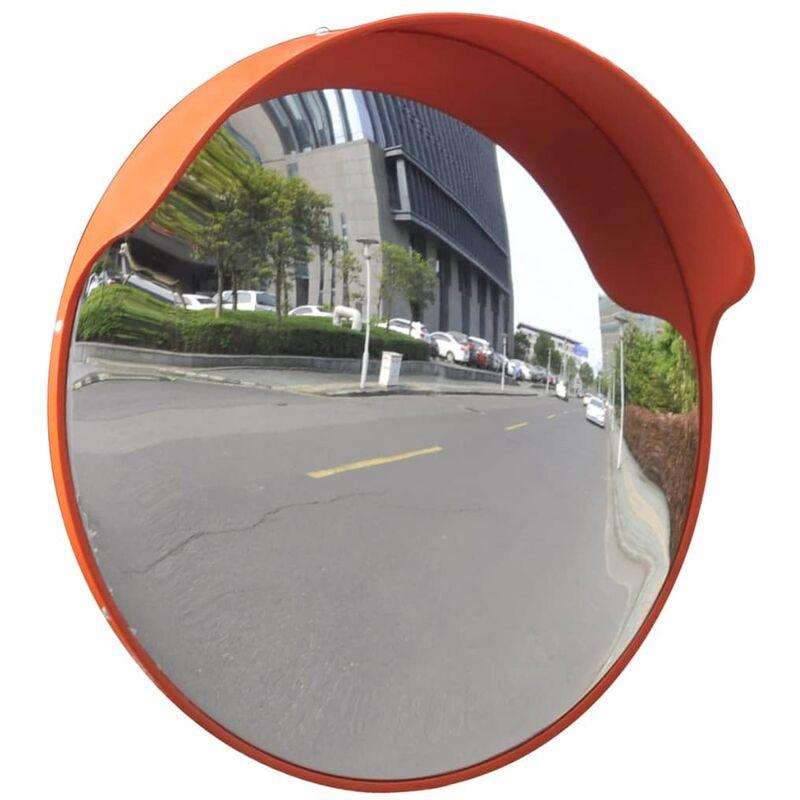 Espejo de tráfico convexo plástico naranja 45 cm