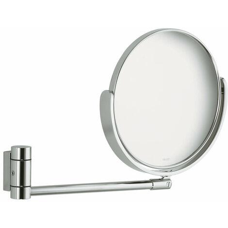 Espejo de vanidad Keuco Plan 17649, brazo articulado, sin luz, cromado - 17649010000