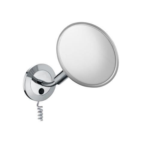 Espejo de vanidad Keucol Elegance 17676, modelo de pared, con enchufe adicional, cromado - 17676019001