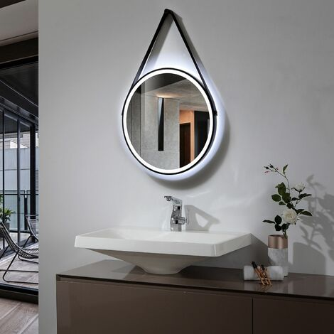 Espejo Decorativo LED con Interruptor Táctil Fiyi 40W Antivaho Blanco Frío 6000K - 6500K
