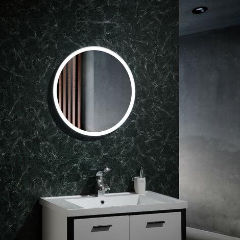 Espejo Decorativo LED Temperatura Seleccionable con Interruptor Táctil Paraíso 25W Antivaho Seleccionable (Cálido-Neutro-Frío)