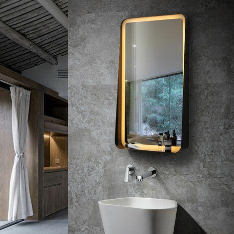 Espejo Decorativo LED Tono de Luz Seleccionable con Interruptor Táctil Seychelles 45W Antivaho Seleccionable (Cálido-Neutro-Frío)