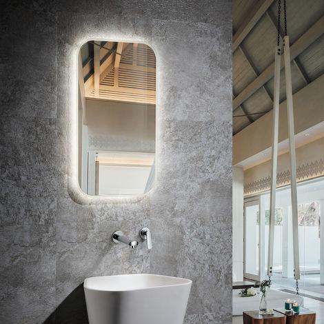 Espejo Decorativo LED Zanzíbar 40W Antivaho Blanco Frío 6000K - 6500K