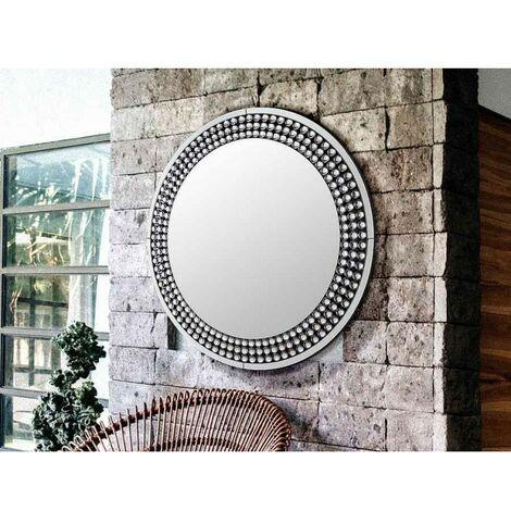 Espejo decorativo redondo con cristales ISADORA de Schuller