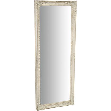 Espejo Espejo de pared y espejo colgante vertical/horizontal L35xPR2xH82 cm acabado blanco envejecido