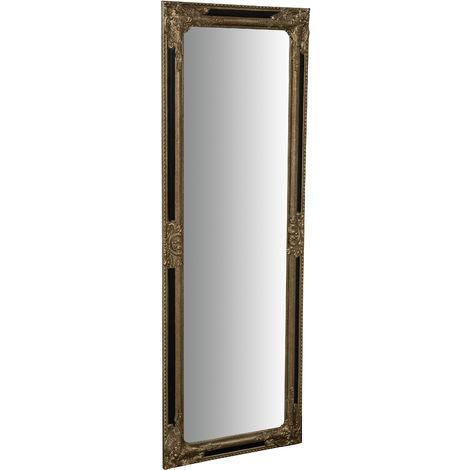 Espejo Espejo de pared y espejo colgante vertical/horizontal L50xPR3xH140 cm acabado en oro antiguo