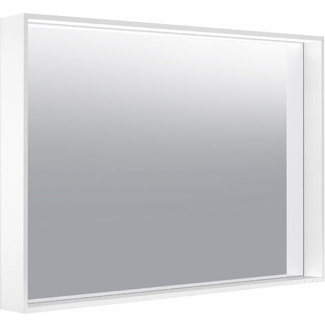 Espejo iluminado Keuco X-Line 33296, 1 color de luz, 3000 Kelvin, 1000 x 700 x 105 mm, color: trufas - 33296143000