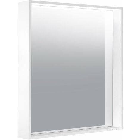 Espejo iluminado Keuco X-Line 33296, 1 color de luz, 3000 Kelvin, 650 x 700 x 105 mm, color: trufas - 33296142000