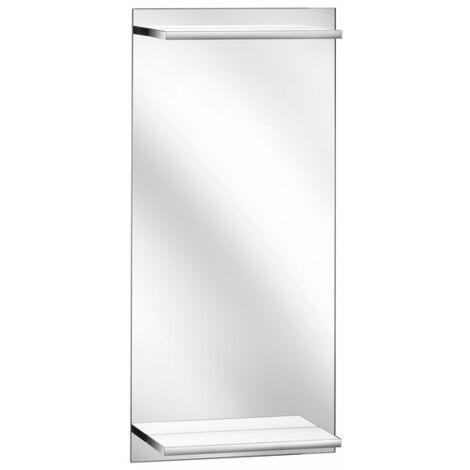 Espejo iluminado para WC de invitados Keuco Edition 11, con balda integrada e iluminada, 11198, 435 x 900 x 128 mm - 11198001500