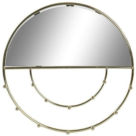 Espejo Joyero Pared Dorado de Metal, Espejos Joyeros Decorativos Originales. Decoración Dormitorio/Baño 3,5xø27cm - Hogar y Mas Modelo - A