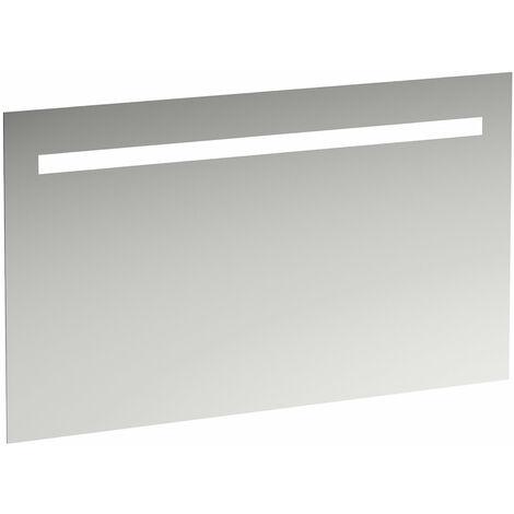 Espejo Laufen Leelo con iluminación LED horizontal integrada, marco de aluminio, 1200 mm, versión para interruptor de luz externa - H4476719501441
