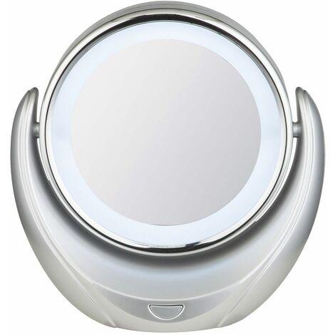 Espejo LED luz plata maquillaje lámpara de mesa baño ajustable iluminación Globo 84026