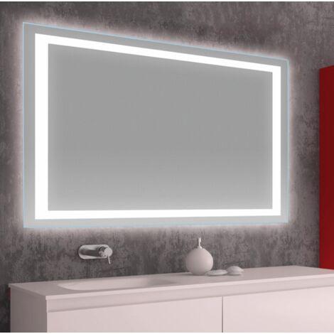 Espejo LED modelo NOVELA rectangular 70 x 100 cm