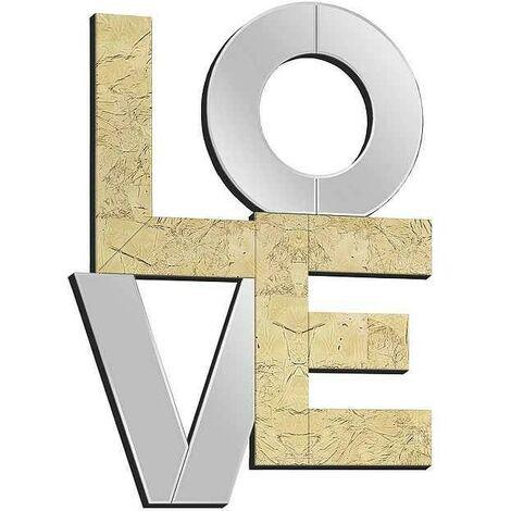 Espejo LOVE pan de oro 60X80 de Schuller
