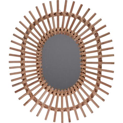 "main image of ""ESPEJO MADERA SOL NATURAL 58x49 CM"""