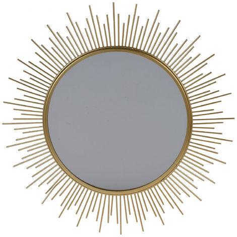 Espejo modelo sol con marco Metálico