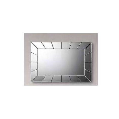 Espejo moderno rectangular plata