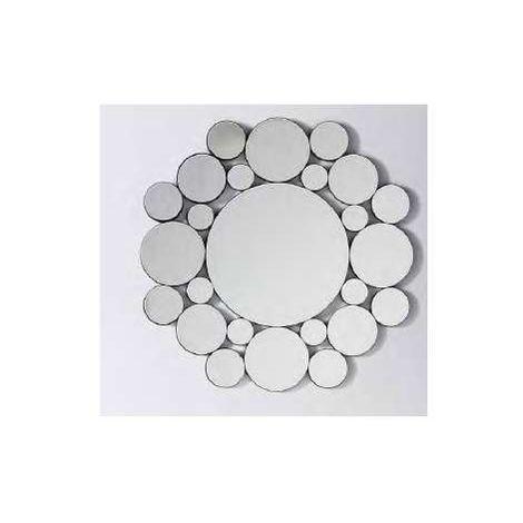 Espejo moderno redondo de 80 plata