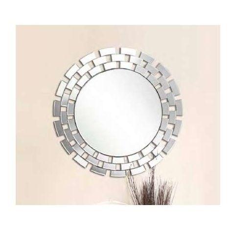 Espejo moderno redondo de 90 plata