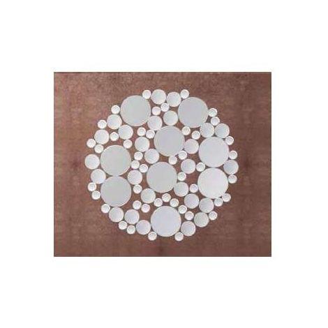 Espejo moderno redondo de 98 plata
