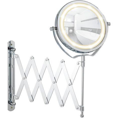 Espejo mural con LED Brolo telescópico WENKO