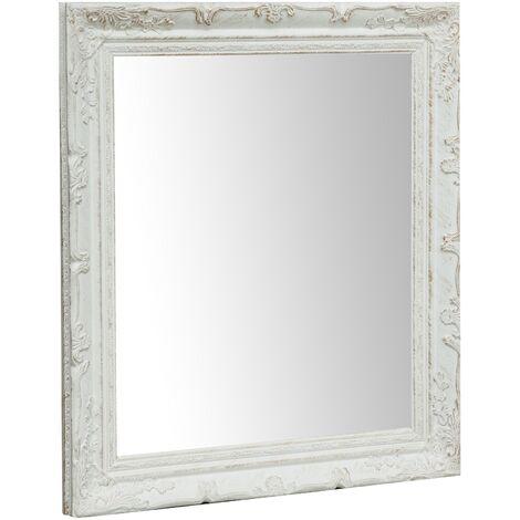 Espejo para colgar vertical/horizontal L64xPR4xH74 cm acabado con efecto blanco envejecido