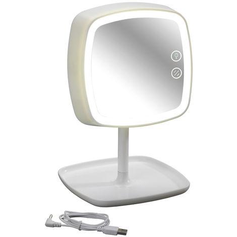 Espejo para cosmética con luz LED y lámpara de mesa Ostia WENKO