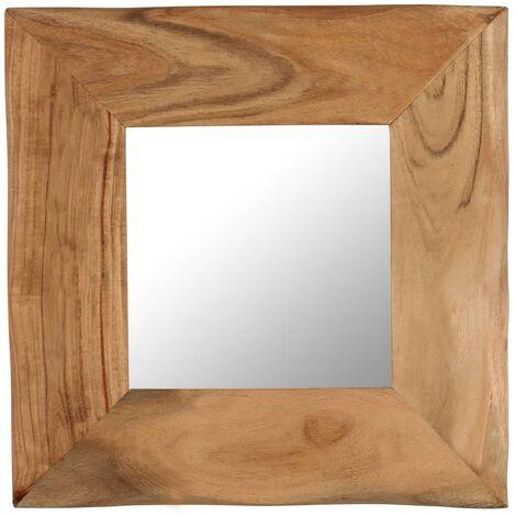 Espejo para maquillaje de madera maciza de acacia 50x50 cm