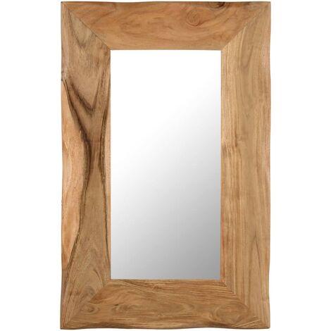 Espejo para maquillaje de madera maciza de acacia 50x80 cm