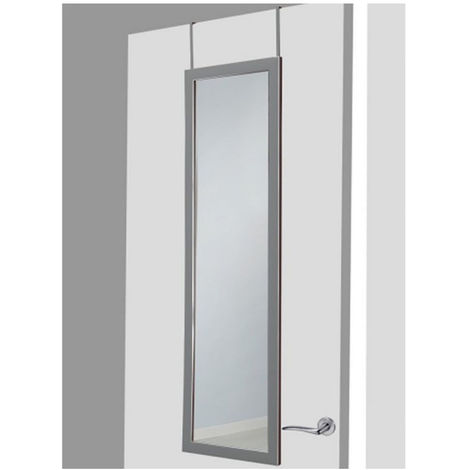 Espejo para puerta plateado sin agujeros, Hogar y Mas