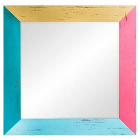 Espejo pared de madera colores 70x70 cm
