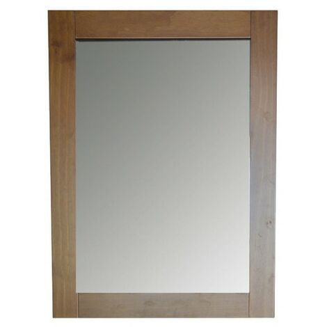 Espejo Pared Decorativo Rectangular, de color Madera, ideal para Dormitorio. Diseño Nórdico, con estilo Elegante - Hogar y Más