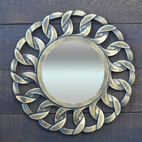 Espejo Pared Decorativo Redondo, de Resina, ideal para Dormitorio. Diseño Moderno, con estilo Original - Hogar y Más A