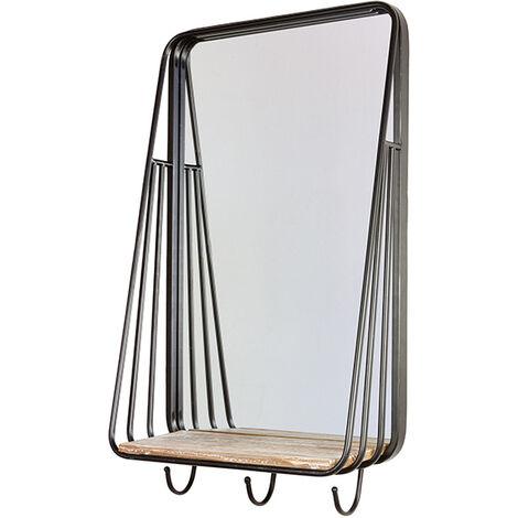 Espejo perchero industrial 45x17x77 cm