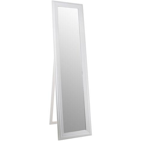 espejo pie dakota blanco 40x5x160 cms