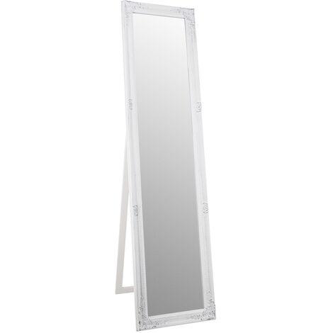espejo pie dakota blanco decapado 40x4x160 cms
