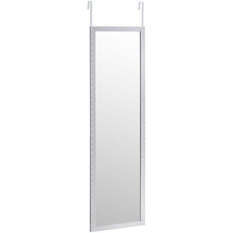 """main image of """"Espejo plata de plástico PE para puerta con textura de 35x125 cm"""""""