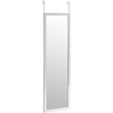 """main image of """"Espejo plata de plástico PE para puerta de 35x125 cm"""""""