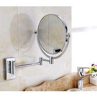 Espejo plegable de pared con un aumento de tres veces - diámetro de 20 cm