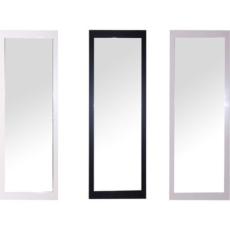 Espejo Rectangular 30x150 Surtido Colores Blanco/negro