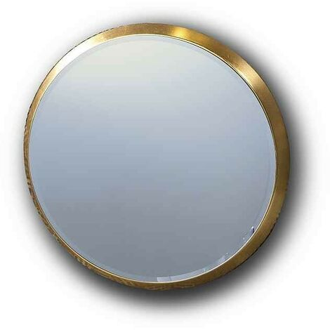 Espejo redondo ARIES de Schuller pan de oro