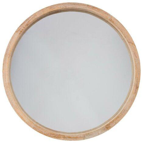 Espejo redondo color natural diam.50 cm EDM 83392