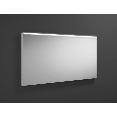 Espejo retrovisor iluminado Burgbad Eqio con luminaria horizontal LED SIGZ120, anchura: 1200 mm, conjunto: Blanco brillo intenso - SIGZ120F2009