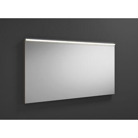 Espejo retrovisor iluminado Burgbad Eqio con luminaria horizontal LED SIGZ120, anchura: 1200 mm, conjunto: Gris alto brillo - SIGZ120F2010