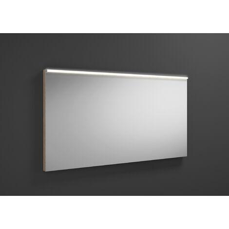 Espejo retrovisor iluminado Burgbad Eqio con luminaria horizontal LED SIGZ120, anchura: 1200 mm, conjunto: Roble Decor Cachemira - SIGZ120F3180