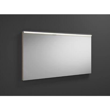 Espejo retrovisor iluminado Burgbad Eqio con luminaria horizontal LED SIGZ120, anchura: 1200 mm, conjunto: Roble Decor Flanelle - SIGZ120F2632