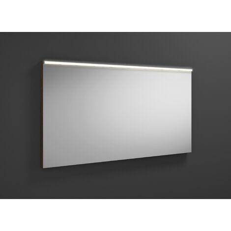 Espejo retrovisor iluminado Burgbad Eqio con luminaria horizontal LED SIGZ120, anchura: 1200 mm, conjunto: Trufa castaña decorativa - SIGZ120F2012