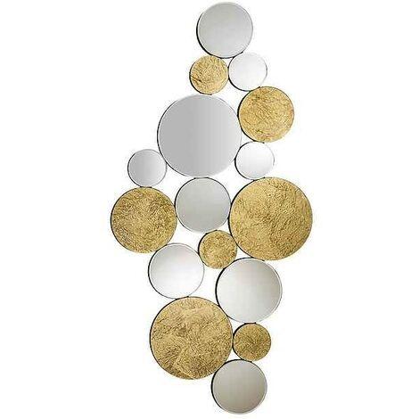 Espejo Schuller modelo CIRZE con lunas de espejo y oro decorativo