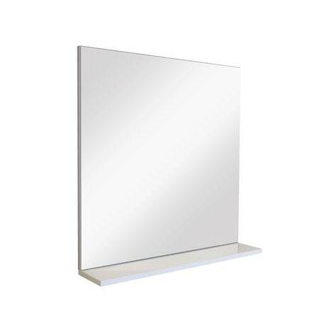 Espejo sin luz con estante NELIA Dimensiones: 60x60x12,5 cm - Aqua+