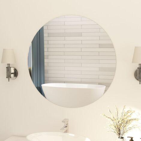 Espejo sin marco redondo vidrio 80 cm